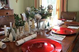 christmas decor for round tables round table fair christmas dining room table centerpieces home