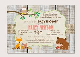 woodland baby shower invitations forest animal baby shower invitations woodland baby shower
