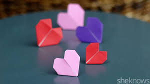 teach your kids how to fold origami hearts for valentine u0027s day