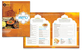 menu publisher template indian restaurant menu template word publisher