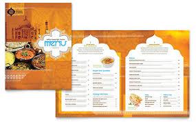 menu publisher template indian restaurant menu template word publisher