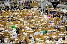 amazon warehouse black friday amazon u0027s warehouse prepares for black friday orders daily mail