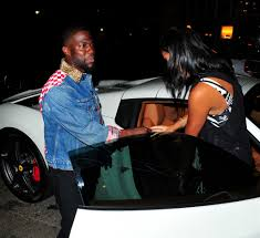 kevin hart and pregnant wife eniko parrish at grand opening of the