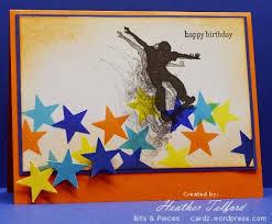 teen boy birthday card stars slinging skater boy picmia