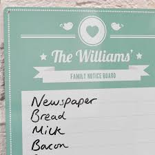 kitchen white board personalised family notice board whiteboard by oakdene designs