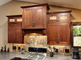 small kitchen design and decoration with solid walnut wooden