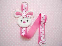 hair clip holder white felt rabbit hairclip bow holder
