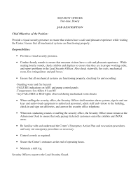 Sample Resume Objectives Supervisor by Security Supervisor Resume Objective Free Resume Example And