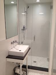 creative of bathroom ideas for basement with sliding door for