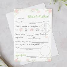 my advice for the and groom cards advice for and groom floral custom printable cards