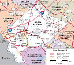 map of the road maps of aiken county south carolina