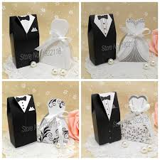 Wedding Gift For Bride Free Shipping 50pcs Bride And Groom Wedding Candy Box Gift