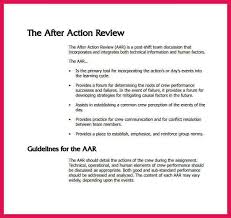 after action review template sop examples