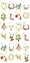 christmas countdown printable watercolor cards free printable