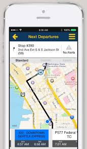 Seattle Bus Route Map iphone and android app trip planner king county metro transit