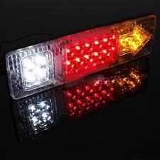 stop sign with led lights 1pcs 12v 24v 19leds waterproof trailer tail lights led rear turn