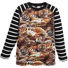 molo boys u0027ryan u0027 tiger print t shirt childrensalon