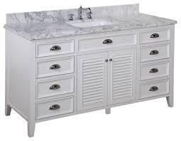 furniture gorgeous white transitional bathroom vanities photos