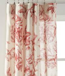 Peach Floral Curtains Camellia Floral Rod Pocket Curtains Country Curtains