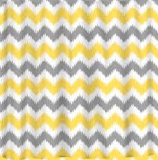 and yellow chevron shower curtain