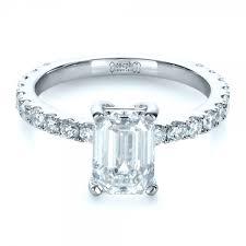 radiant cut engagement ring custom radiant cut diamond engagement ring 1311