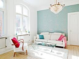beautiful simple apartment living room design with white sofa and