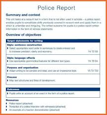 police report example 8 police report templates free sample