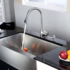 farmhouse kitchen faucet stainless steel kitchen sink combination kraususa com