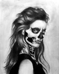 skeleton face graphite drawing by wideyedkitten11 on deviantart