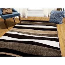 Black Area Rugs Home Dynamix Bazaar Zag Dark Brown 7 Ft 10 In X 10 Ft 1 In