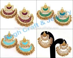 punjabi jhumka earrings wholesale punjabi chandelier earrings muslim wedding jewelry