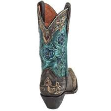 womens cowboy boots dan post boots s brown and teal dp3544 vintage bluebird