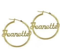 name plate earrings personalized hoop earrings name plate earrings handmade