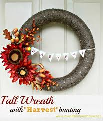 fall wreath with harvest bunting pool noodle wreath love of