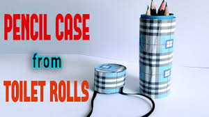 diy craft pencil holder from toilet rolls youtube