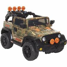 toddler motorized car electric cars for kids to ride camo 4 x 4 grill atv tires toddler