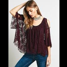 free people purple lace lost austin swing top xs purple lace and