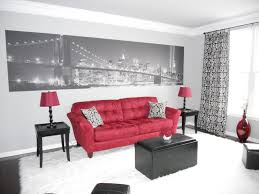 Red Black And White Living Room Home Design Ideas - Red living room decor