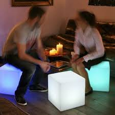 led lighted cube chair