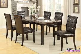 Faux Leather Dinning Chairs F1354 Dark Brown Faux Leather Dining Chair Set Of 2