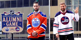 heritage uniforms and jerseys jets oilers heritage classic jerseys unveiled icethetics co