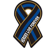 blue support ribbon blue line heroes live forever reflective ribbon decal