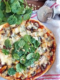 chicken mushrooms and blue cheese pizza havoc in the kitchen