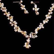 necklace pearl set images Pearl necklace buy designer pearl necklace online rediff shopping jpg