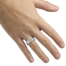 mens diamond engagement rings diamond mens band in tungsten carbide