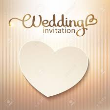 wedding invitations background wedding invitation with paper heart and gold background royalty