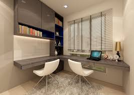 Beds On The Floor by Modern Study Room Presenting Black Glossy Desk And Black Stool