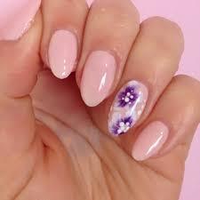 one stroke flower nails dottyaboutnails