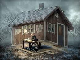 Optical Illusion Wallpaper by Wood House Nature Landscape Erik Johansson Optical Illusion