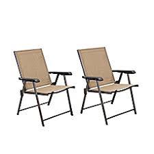 Patio Folding Chairs Hawthorne Folding Sling Chairs Set Of 2 Bed Bath Beyond